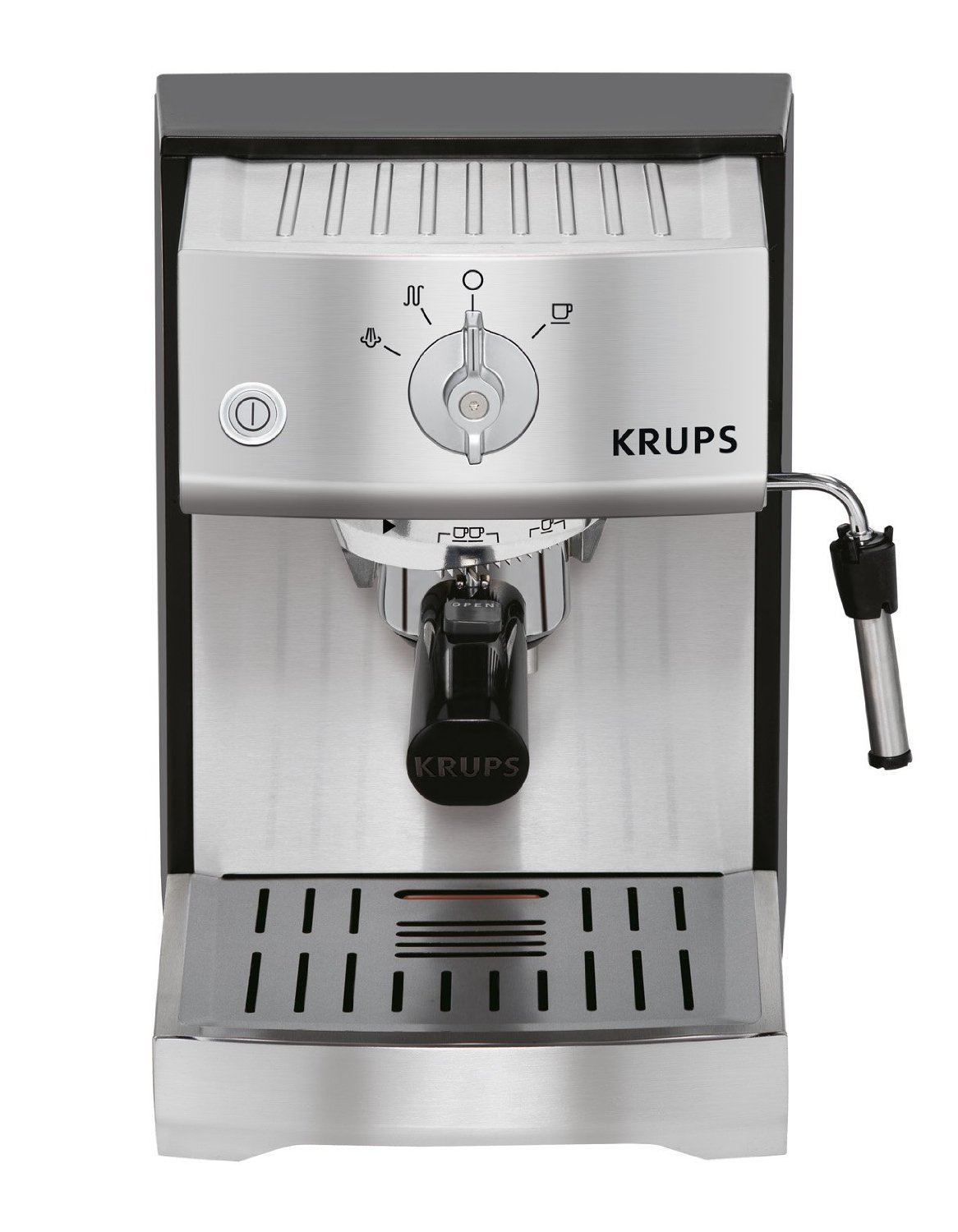 New Krups XP524040 Stainless Manual Espresso Maker  TVAE